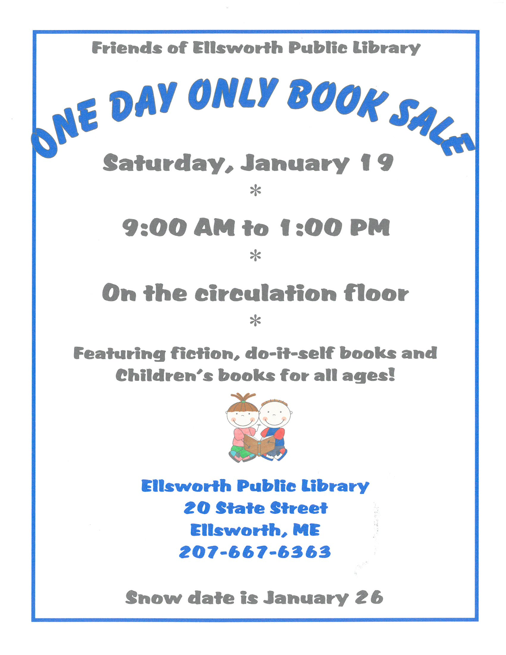Friends' January Book Sale